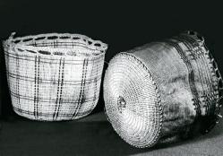 Корзины из волокон травы